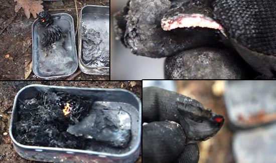 What Else Can You Turn Into Char? Beyond Char Cloth Experiment - When it comes to charring materials into tinder, cotton, wool and punk wood work really well but may not be available; so what else can you turn into char?