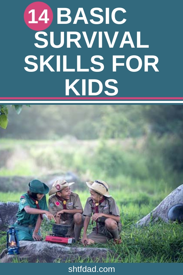 Teaching your kids self defense, first aid and wilderness survival are just a few of the basic survival skills for kids every parent needs to train their kids to do. Learning survival skills can be done through fun activities. #survival #kidssurvival #shtf #shtfdad #kidsselfdefense