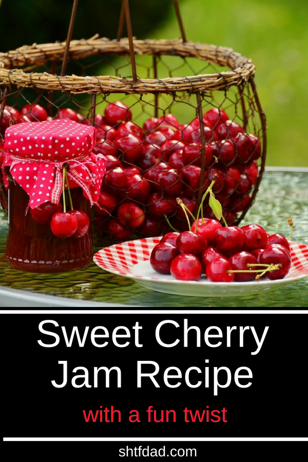 Want to know how to make sweet cherry jam? This recipe adapted from the Ball book of home preserving is easy to make and results in delicious homemade dessert you can use to glaze cookies, eat as dessert right out of the jar, or have on crackers for a snack.
