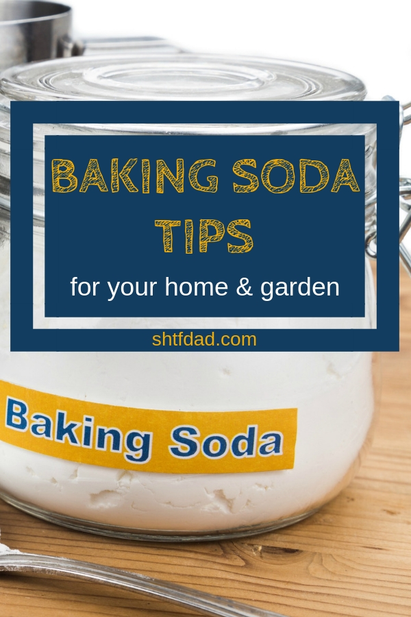 Baking soda has lots of great uses for home and garden. Here are 13 baking soda tips you'll be glad to know: from scrubbing, to odor removal, and getting rid f ants and slugs. #bakingsoda #homecleaning #naturalhome #gardening #preparedness #shtfdad