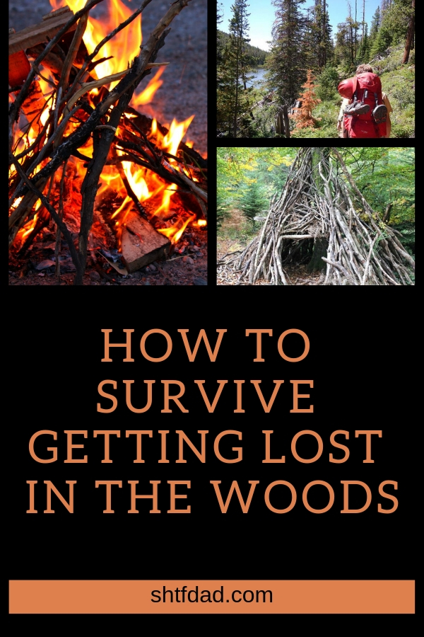 Learning how to survive getting lost in the woods is a must for everyone! Here's what you should do if you get stranded in the woods. Teach everyone in your family to keep them safe. #survival #camping #woods #shtf #shtfdad #keepingfamilysafe