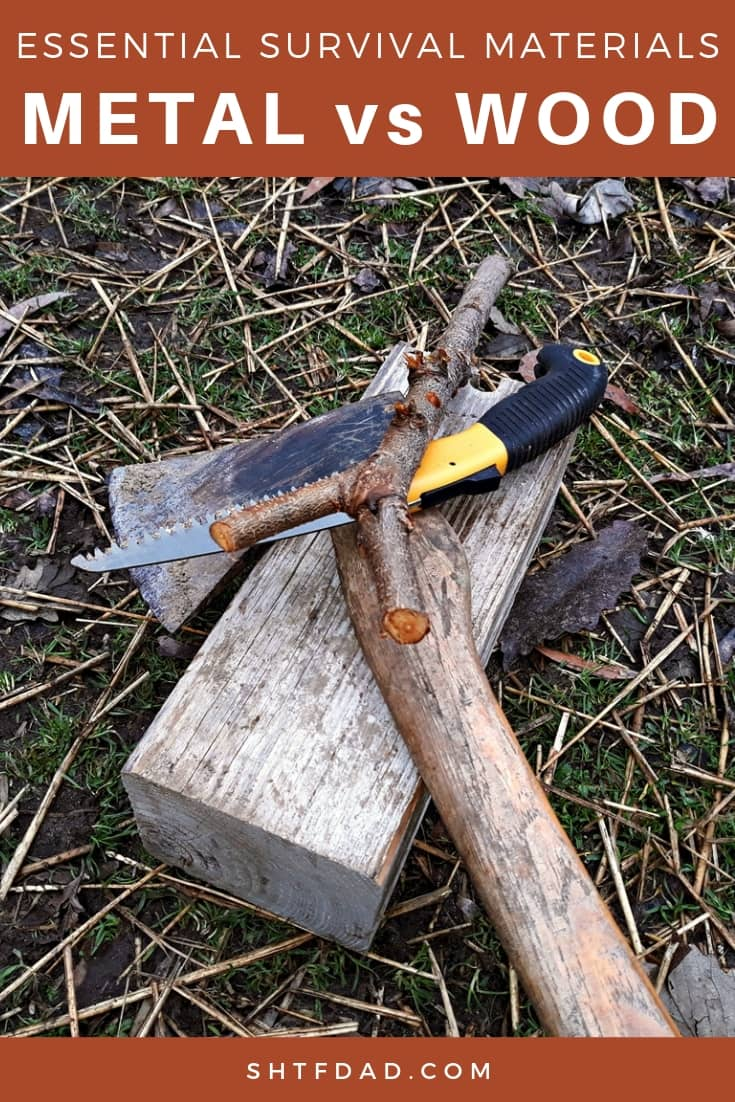 Learn how to use wood and metal for survival. From trapping to hunting and fishing, metal and wood are your friends. #survivalmaterials #survival #preparedness #shtf #shtfdad #metal #wood #hunting #fishing #trapping