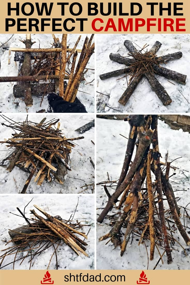 Whether you are a survivalist or simply a weekend camper, learning how to build a well-made campfire is an important wilderness skill. #survival #weekendcamper #campfire #wildernessskills #shtfdad