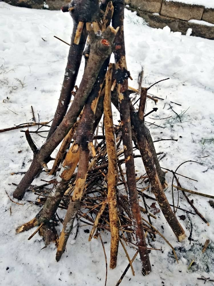 The Teepee is the most straightforward and most basic type of fire.