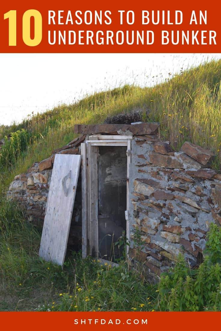 There are many reasons to build an underground bunker given the threats we face in this modern age. Here are 10 reasons why you should consider building one. #undergroundbunker #shtf #survival #preparedenss #shtfdad #prepper #bunker #fortification #container