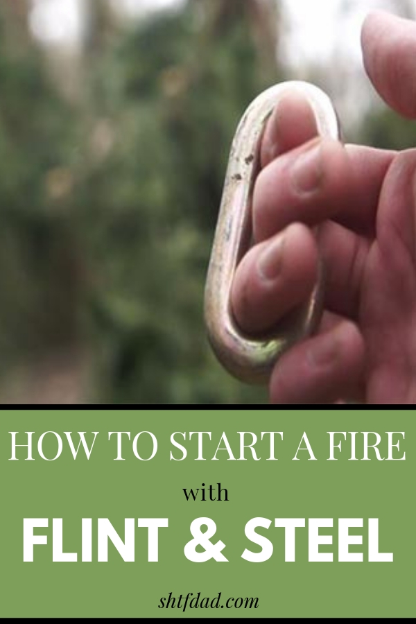 Learn how to start a fire with flint and steel. It will come in handy in many emergency situations. #shtf #startfire #howtostartafire #flint #steel #shtfdad #survival #preparedness