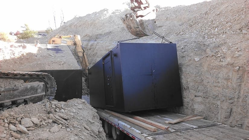 placing bunker in the ground - underground bunkers for sale by Ultimate Bunker