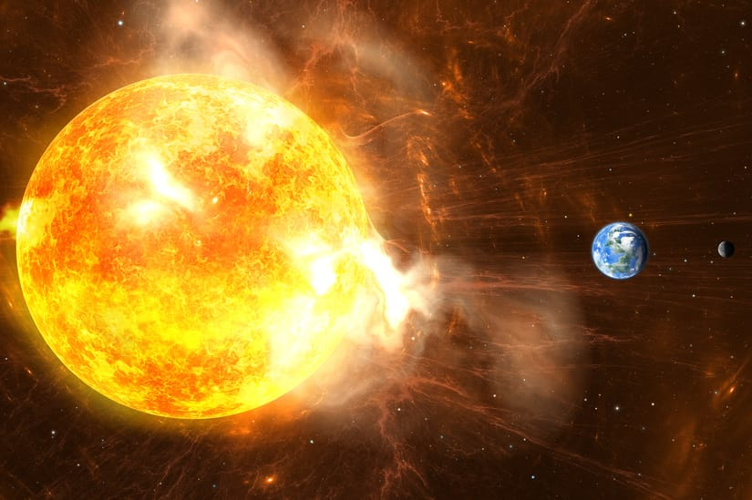 solar flare or coronal mass ejection emp attack on Earth