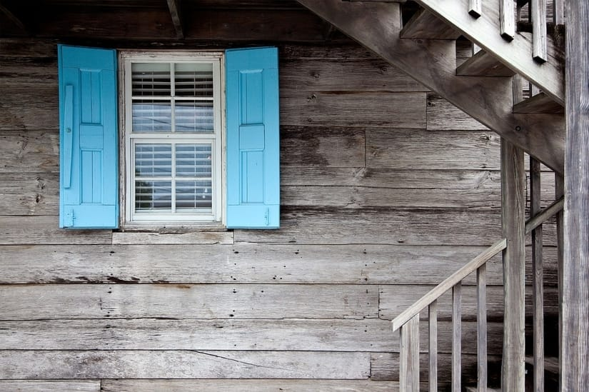 DIY exterior window shutters