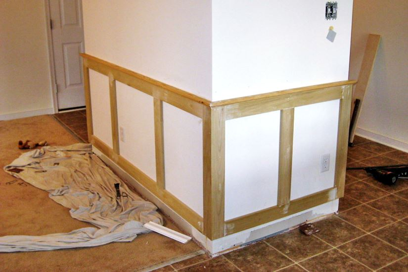 add wainscoting to a room to increase home value