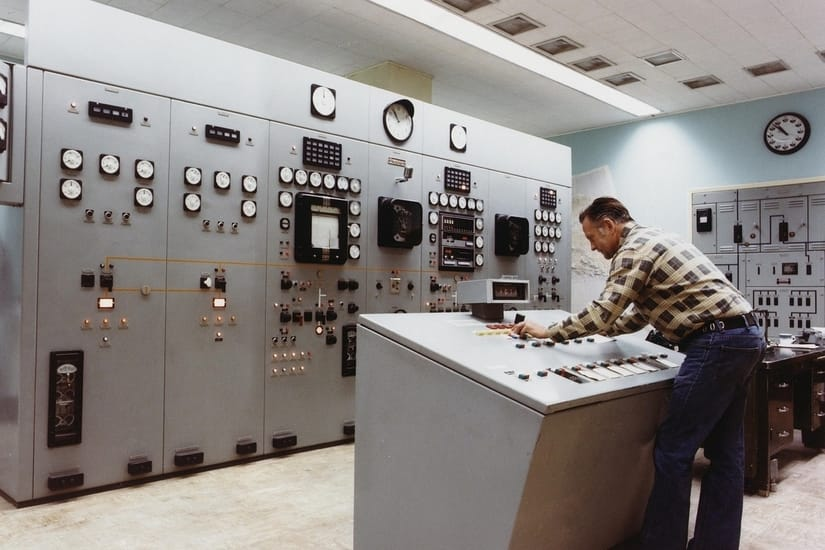 control room at a power plant