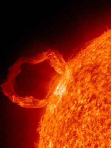 solar flare from the sun - underground bunkers can protect from coronal mass ejections (CMEs) caused by solar flares