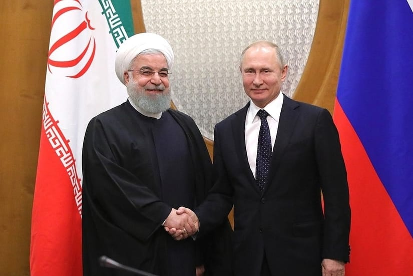 Meeting with President of Iran Hassan Rouhani and President of Russia Vladimir Putin