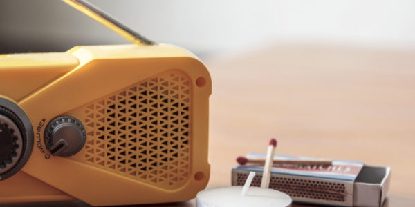 emergency weather radio with matches