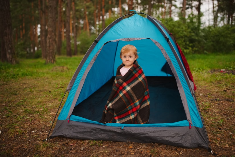 Include a tent in your baby emergency kit