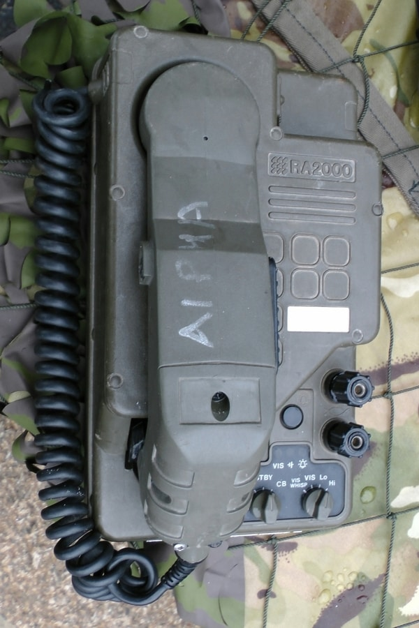 Consider storing a military field telephone for short-range, secure, wired communications.