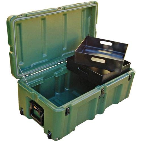Pelican Hardigg Military Footlocker and ammo storage container