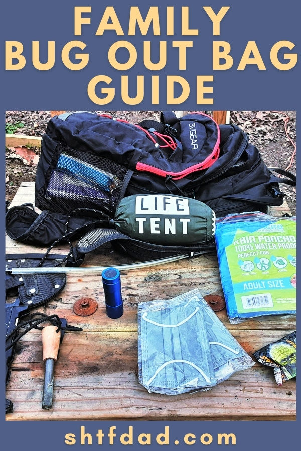 Our Family Bug Out Bag Guide outlines different methods of BOB family packing, backpack recommendations, what to bring for children of all ages, plus storage and upkeep tips.