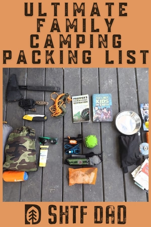 Take the stress out of camping, and come prepared! Camping packing list essentials you need for sleep, shelter, water, food, and other needs by age range.